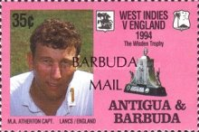 [The 100th Anniversary of First English Cricket Tour to the West Indies - Issues of 1994 of Antigua & Barbuda Overprinted