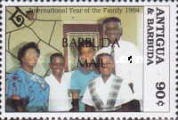 [International Year of the Family - Issue of 1994 of Antigua & Barbuda Overprinted