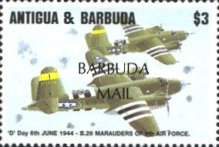 [The 50th Anniversary of D-Day - Issues of 1994 of Antigua & Barbuda Overprinted