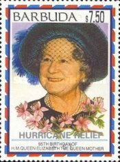 [Hurricane Relief - Issues of 1995 Overprinted