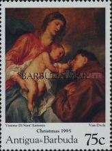 [Christmas - Religious Paintings - Issues of 1995 of Antigua & Barbuda Overprinted