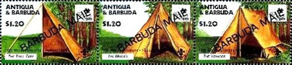 [The 18th World Scout Jamboree, Netherlands - Tents - Issues of 1995 of Antigua & Barbuda Overprinted