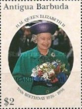 [The 70th Anniversary of the Birth of Queen Elizabeth II - Issues of 1996 of Antigua & Barbuda Overprinted