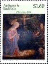 [Christmas - Paintings by Fra Filippo Lippi - Issues of 1996 of Antigua & Barbuda Overprinted