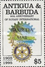 [The 90th Anniversary of Rotary International - Issue of 1995 of Antigua & Barbuda Overprinted