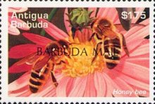 [Bees - Issues of 1995 of Antigua & Barbuda Overprinted