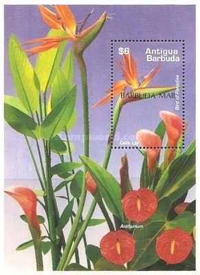[Flowers - Issue of 1995 of Antigua & Barbuda Overprinted