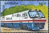 [Trains of the World - Issues of 1995 of Antigua & Barbuda Overprinted