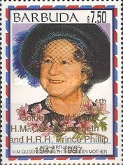 [The 50th Anniversary of the Wedding of Queen Elizabeth II and Prince Philip - Issues of 1995 Overprinted