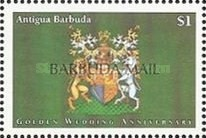[The 50th Anniversary of the Wedding of Queen Elizabeth and Prince Philip - Issues of 1997 of Antigua & Barbuda Overprinted