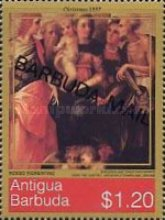 [Christmas - Religious Paintings - Issues of 1997 of Antigua & Barbuda Overprinted