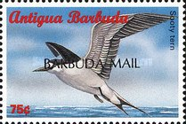 "[Sea Birds of the Caribbean - Issues of 1996 of Antigua & Barbuda Overprinted ""BARBUDA MAIL"", type UF2]"