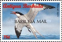 "[Sea Birds of the Caribbean - Issues of 1996 of Antigua & Barbuda Overprinted ""BARBUDA MAIL"", type UF3]"