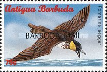 "[Sea Birds of the Caribbean - Issues of 1996 of Antigua & Barbuda Overprinted ""BARBUDA MAIL"", type UF4]"
