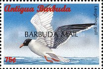"[Sea Birds of the Caribbean - Issues of 1996 of Antigua & Barbuda Overprinted ""BARBUDA MAIL"", type UF7]"