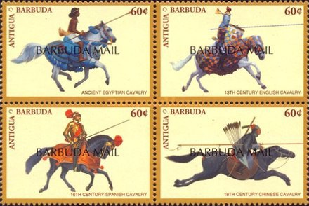 [Cavalry through the Ages - Issues of 1996 of Antigua & Barbuda Overprinted