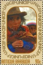 [The 50th Anniversary of UNICEF - Issues of 1996 of Antigua & Barbuda Overprinted
