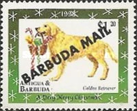 [Christmas - Dogs - Issues of 1998 of Antigua & Barbuda Overprinted