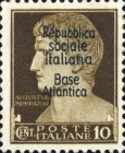 "[Italy Stamps Overprinted ""Repubblica sociale Italiana Base Atlantica"", type C1]"