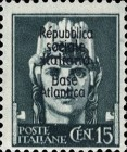 "[Italy Stamps Overprinted ""Repubblica sociale Italiana Base Atlantica"", type C2]"