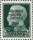 "[Italy Stamps Overprinted ""Repubblica sociale Italiana Base Atlantica"", type C3]"