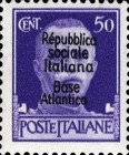 "[Italy Stamps Overprinted ""Repubblica sociale Italiana Base Atlantica"", type C5]"