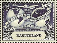[The 75th Anniversary of Universal Postal Union, Typ M]