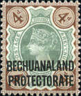 "[Great Britain Postage Stamps Overprinted ""BECHUANALAND - PROTECTORATE"", type AA]"