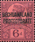 "[Great Britain Postage Stamps Overprinted ""BECHUANALAND - PROTECTORATE"", type AB]"
