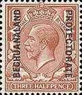 [Great Britain Postage Stamps Issue of 1912-1913 Overprinted, type AG2]