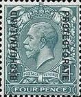 [Great Britain Postage Stamps Issue of 1912-1913 Overprinted, type AG6]
