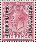 [Great Britain Postage Stamps Issue of 1912-1913 Overprinted, type AG7]