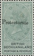 "[British Bechuanaland Stamps Overprinted ""PROTECTORATE"", type I]"