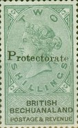 "[British Bechuanaland Stamps Overprinted ""PROTECTORATE"", type I1]"