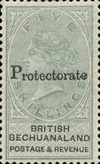 "[British Bechuanaland Stamps Overprinted ""PROTECTORATE"", type I3]"