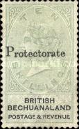 "[British Bechuanaland Stamps Overprinted ""PROTECTORATE"", type I4]"