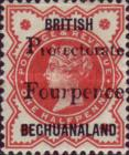 "[British Bechuanaland Stamp Overprinted ""PROTECTORATE"" and Surcharged ""Fourpence"", Typ O]"