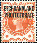 "[Great Britain Postage Stamps Overprinted ""BECHUANALAND - PROTECTORATE"", type W]"