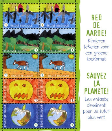 [Postage Stamp Festival - Save the Earth, type ]