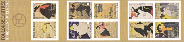 [The 100th Anniversary of the Death of Henri de Toulouse-Lautrec, 1864-1901 - Self Adhesive Stamps, Typ ]