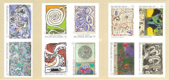 [Paintings - The 85th Anniversary of the Birth of Pierre Alechinsky - Self Adhesive Stamps, type ]