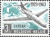 [The 40th anniversary of the airline company Sabena, Typ ACE]