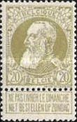 [King Leopold II. New issue, Typ AH]