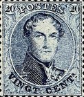 [King Leopold I - Perforated, type B22]