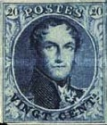 [King Leopold I - Different Watermark, type B4]