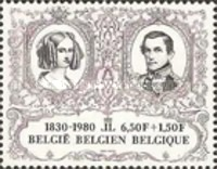 [The 150th Anniversary of Belgium Independence, type BAB]