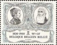 [The 150th Anniversary of Belgium Independence, type BAC]