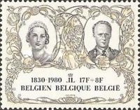 [The 150th Anniversary of Belgium Independence, type BAE]