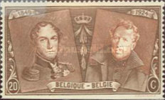 [The 75th Anniversary of the First Belgian Stamp, Typ BW2]