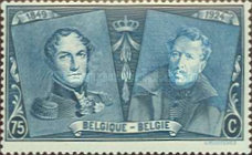[The 75th Anniversary of the First Belgian Stamp, Typ BW8]